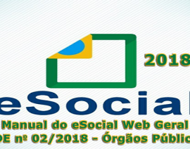 Publicados o Manual do eSocial Web Geral e a NDE 02/2018